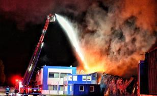 Incendiu puternic la o fabrică din Timiș